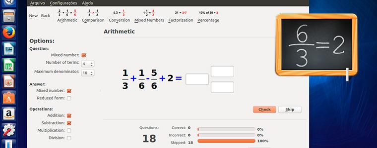 KBruch - Exercite o Cálculo de Frações e Porcentagens no Ubuntu