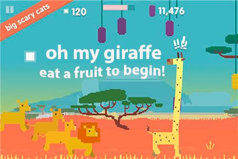 Oh My Giraffe - proteja sua girafa dos famintos leões