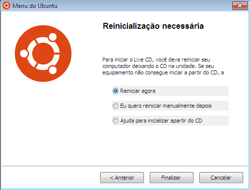 Menu do Ubuntu no Windows 7