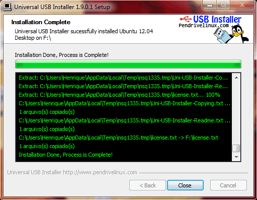 Universal USB Installer: Instalando o Ubuntu 12.04 através de um pendrive