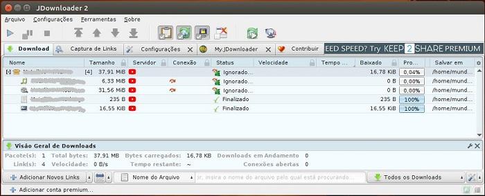 JDownloader 2 - o famoso Gerenciador de Downloads no Ubuntu - Mundo